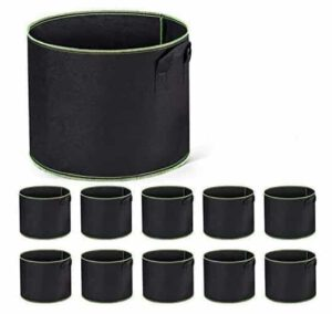 Delox 10 Pack 1 Gallon Fabric Grow Pots