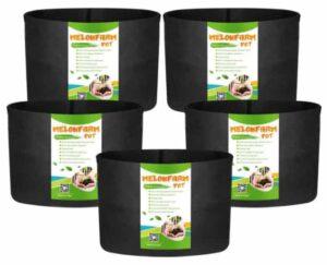 MELONFARM 5-Pack 15 Gallon Pots With Handles