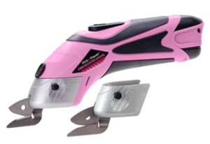 Pink Power Electric Fabric Scissors - Heavy Duty Electric Fabric Shears