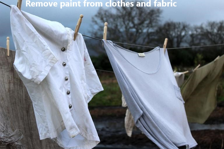 remove fabric paint from clothes & fabric