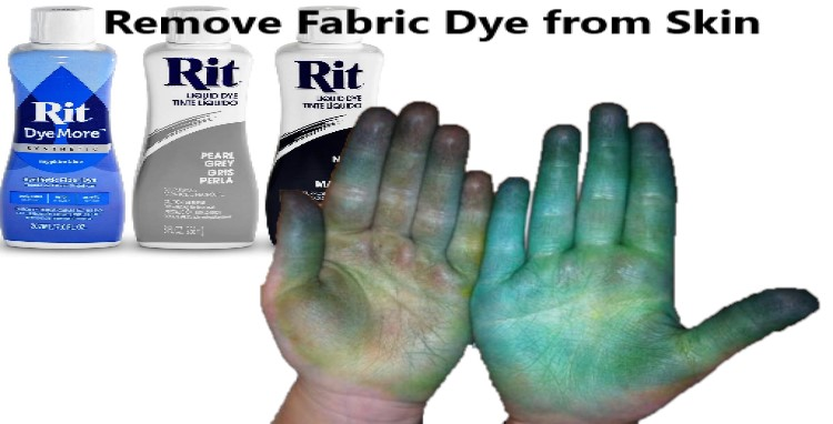 How to Get Fabric Dye Off Skin