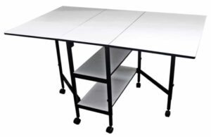 Sullivans 38431 Home Hobby Adjustable Height Foldable Commercial Fabric Cutting Table
