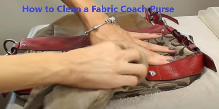 How to Clean a Fabric Coach Purse