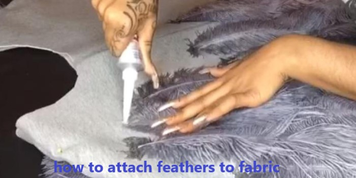 how to attach feathers to fabric