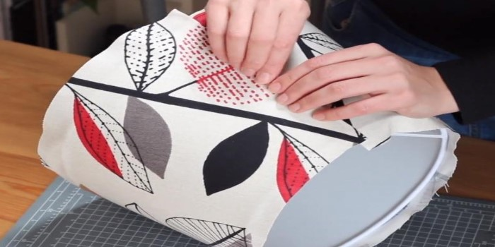 How to Cover a Lampshade Frame with Fabric