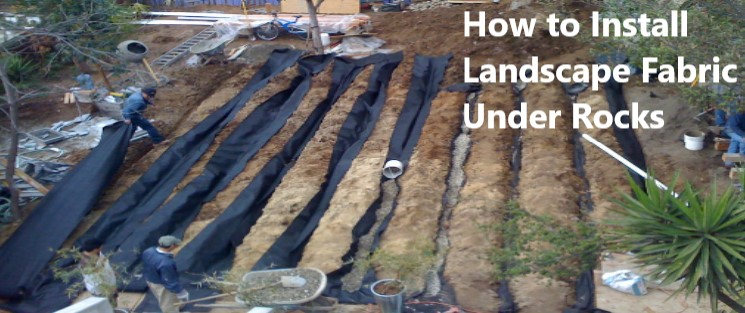How to Install Landscape Fabric Under Rocks