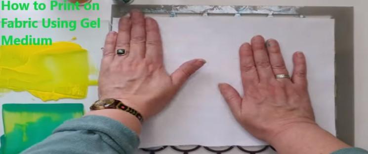 How to Print on Fabric Using Gel Medium