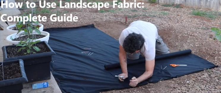 how to use landscape fabric
